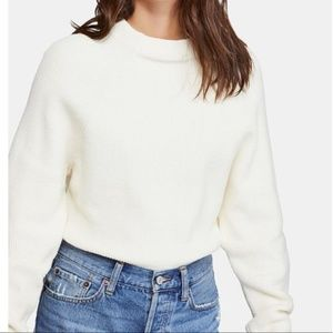 NWT Free People Too Good Pullover White